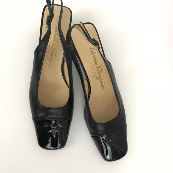 0805dc27feb7 M 5a5bfc8500450f74e693d489. Other Shoes you may like. Salvatore Ferragamo  Vintage Black Suede Low Heels